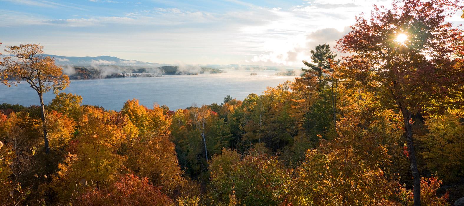 autumn at lake winnipesaukee
